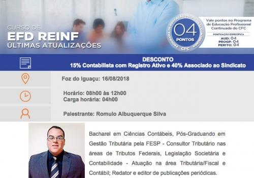 """Curso """"EFD REINF - Últimas Atualizações"""""""